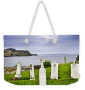 Tombstones Near Atlantic Coast In Newfoundland Weekender Tote Bag by Elena Elisseeva