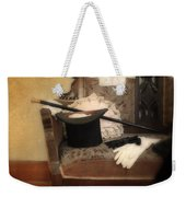 Top Hat And Cane On Sofa Weekender Tote Bag