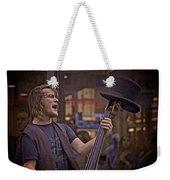 Top Hat Busker Weekender Tote Bag
