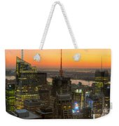 Top Of The Rock Twilight Ix Weekender Tote Bag by Clarence Holmes