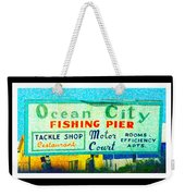 Topsail Island Old Sign Weekender Tote Bag