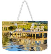 Topsail Sound At Sunset Weekender Tote Bag