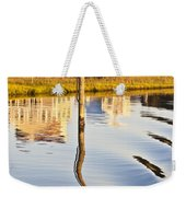 Topsail Sound Sunset Weekender Tote Bag by Betsy Knapp
