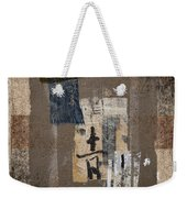 Torn Papers On Wall Number 3 Weekender Tote Bag