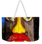 Totem Pole With Tongue Sticking Out Weekender Tote Bag