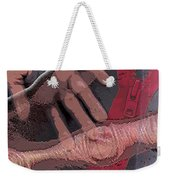 Touch And Red Zipper Weekender Tote Bag