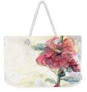 Touch Of Summer Hollyhocks Watercolor Weekender Tote Bag