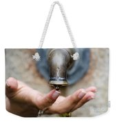 Touching The Water Weekender Tote Bag