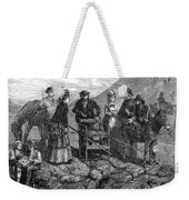 Tourists At Vesuvius, 1872 Weekender Tote Bag