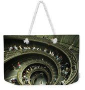 Tourists Descend The Double Spiral Weekender Tote Bag