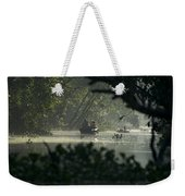 Tourists Exploring The Rain Forest Weekender Tote Bag
