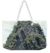 Tourists In Canoes Explore Rainforest Weekender Tote Bag
