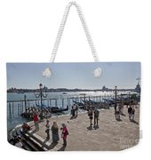 Tourists In Venice Weekender Tote Bag