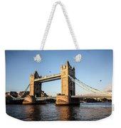 Tower Bridge And Helicopter Weekender Tote Bag