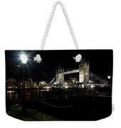 Tower Bridge And Riverside Night View  Weekender Tote Bag