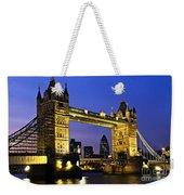 Tower Bridge In London At Night Weekender Tote Bag