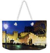 Tower Of London Walls At Night Weekender Tote Bag by Elena Elisseeva