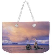 Towers Of Calcium Carbonate Called Tufa Weekender Tote Bag