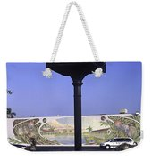 Town Clock Weekender Tote Bag by Sally Weigand