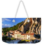 Town Of Sisteron In Provence France Weekender Tote Bag