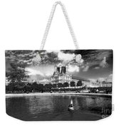 Toy Boating In A Parisian Park Bw Weekender Tote Bag