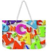 Toy Letters Weekender Tote Bag