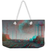Tracking The Storm - Red-cyan Filtered 3d Glasses Required Weekender Tote Bag