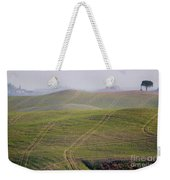Tracks On The Field Weekender Tote Bag