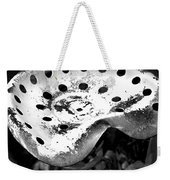 Tractor Seat Close Up Black And White Weekender Tote Bag