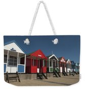 Traditional Beach Huts On The Seafront Weekender Tote Bag