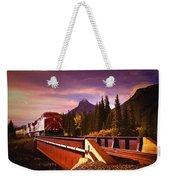 Train Going Over A Bridge Banff Weekender Tote Bag