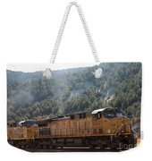 Train In Spanish Fork Canyon Weekender Tote Bag