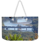 Train On The Mississippi Weekender Tote Bag