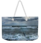 Train Tracks Into The Sea Weekender Tote Bag