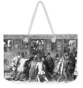 Train Travel: Second Class Weekender Tote Bag