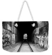 Train Tunnel At The Muir Trestle In Martinez California . 7d10235 . Black And White Weekender Tote Bag