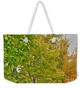 Transition Of Autumn Color Weekender Tote Bag