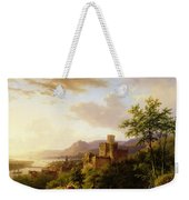 Travellers On A Path In An Extensive Rhineland Landscape Weekender Tote Bag