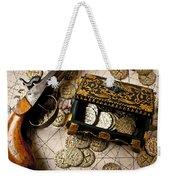 Treasure Box With Old Pistol Weekender Tote Bag
