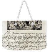 Treaty Between William Penn Weekender Tote Bag