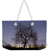 Tree At Night With Stars Trails Weekender Tote Bag