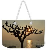 Tree In A Foggy Sunset Weekender Tote Bag