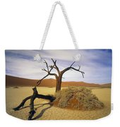 Tree In Desert Weekender Tote Bag