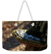 Tree Shelf Snow Sprinkled Fungus Weekender Tote Bag