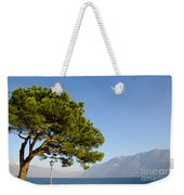 Tree Standing Close To A Lake Weekender Tote Bag
