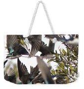 Tree Swallow Frenzy Weekender Tote Bag