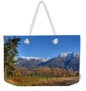 Trees And Mountain Weekender Tote Bag