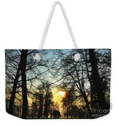 Trees And Sun In A Foggy Day Weekender Tote Bag