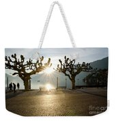 Trees And Sunset Weekender Tote Bag