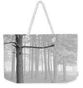 Trees On A Foggy  Morning Weekender Tote Bag